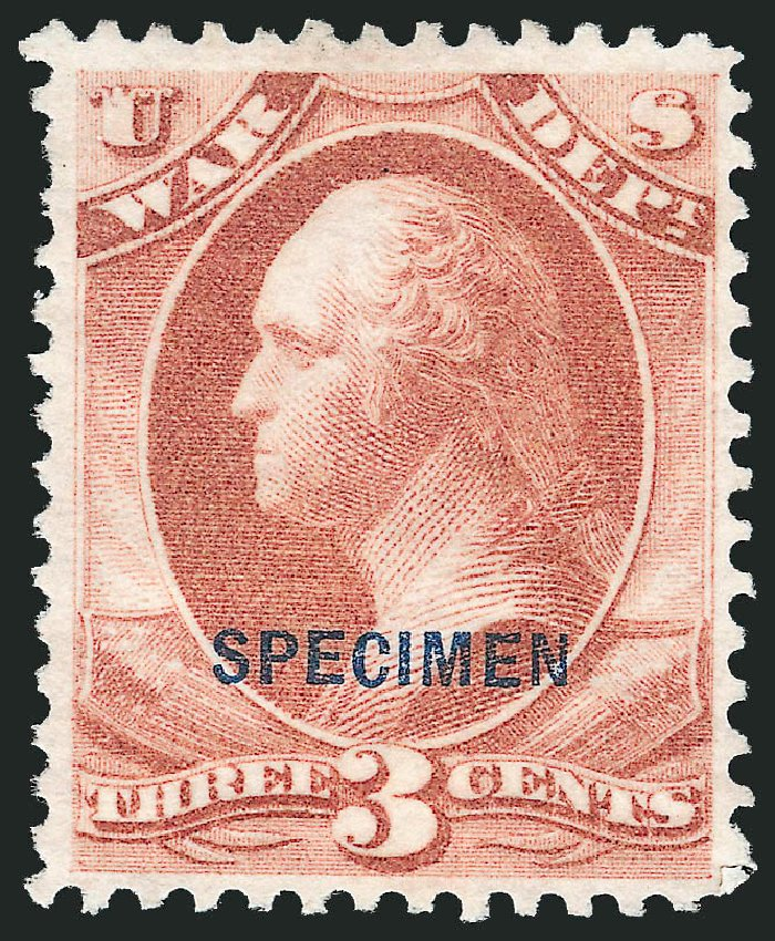 Price of US Stamps Scott #O85: 1873 3c War Official. Robert Siegel Auction Galleries, Mar 2015, Sale 1095, Lot 647