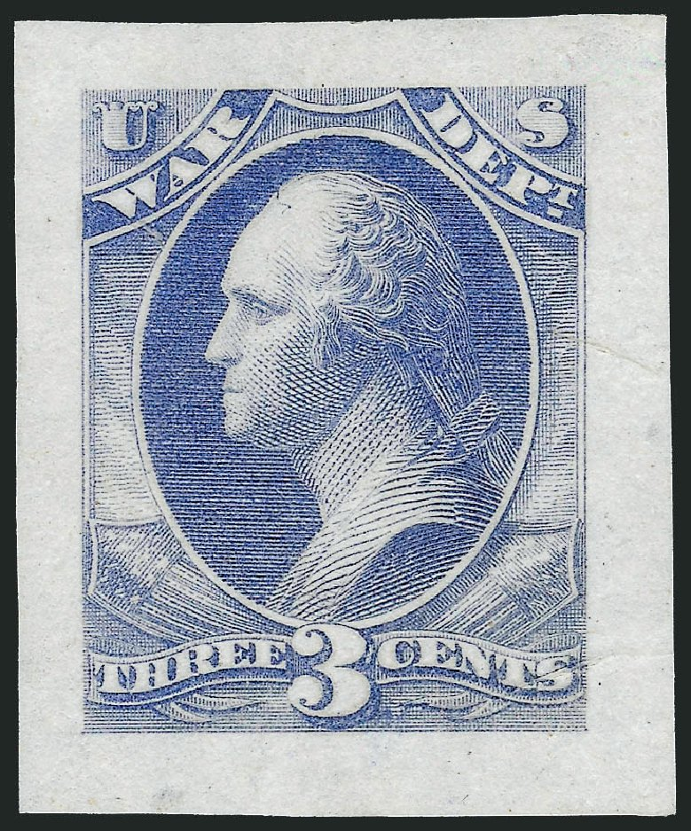 US Stamp Price Scott Cat. # O85: 3c 1873 War Official. Robert Siegel Auction Galleries, Mar 2013, Sale 1040, Lot 1120