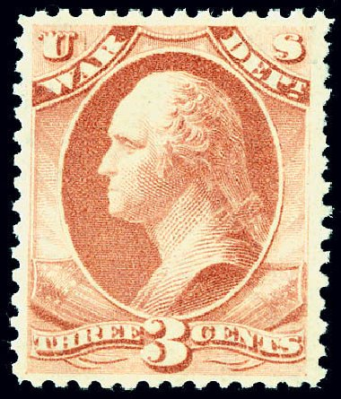 US Stamps Prices Scott # O85: 3c 1873 War Official. Matthew Bennett International, Jun 2008, Sale 328, Lot 1251