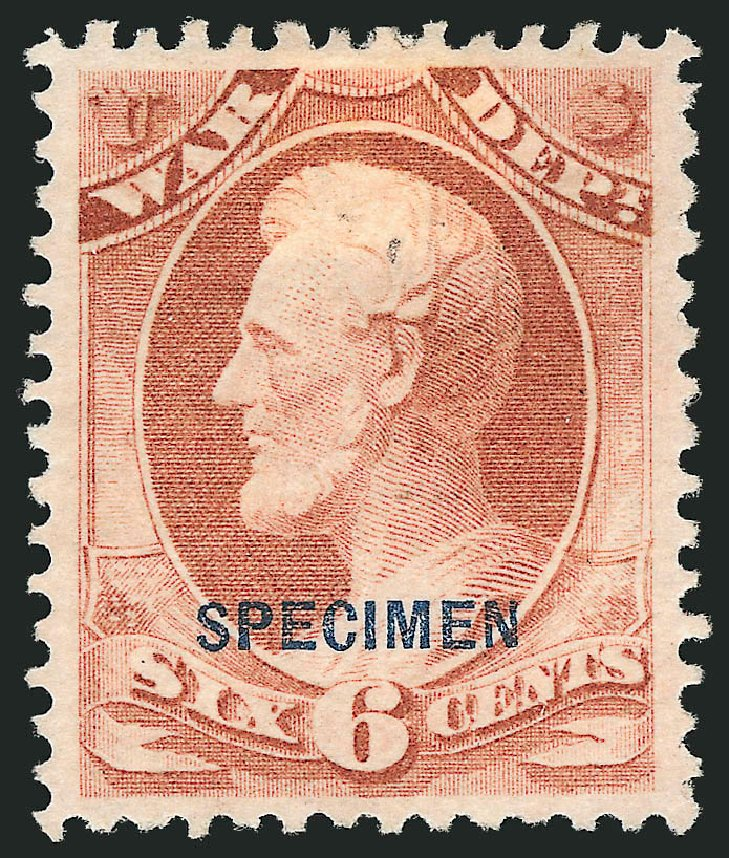 US Stamps Prices Scott Catalog # O86: 6c 1873 War Official. Robert Siegel Auction Galleries, Mar 2015, Sale 1095, Lot 648