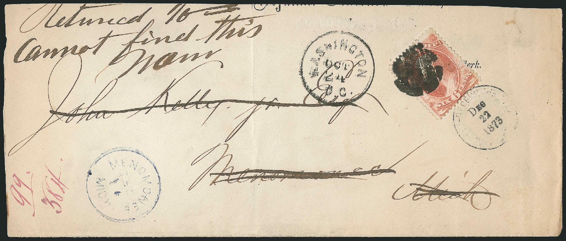 Price of US Stamps Scott #O86: 6c 1873 War Official. Robert Siegel Auction Galleries, Dec 2010, Sale 1003, Lot 5511