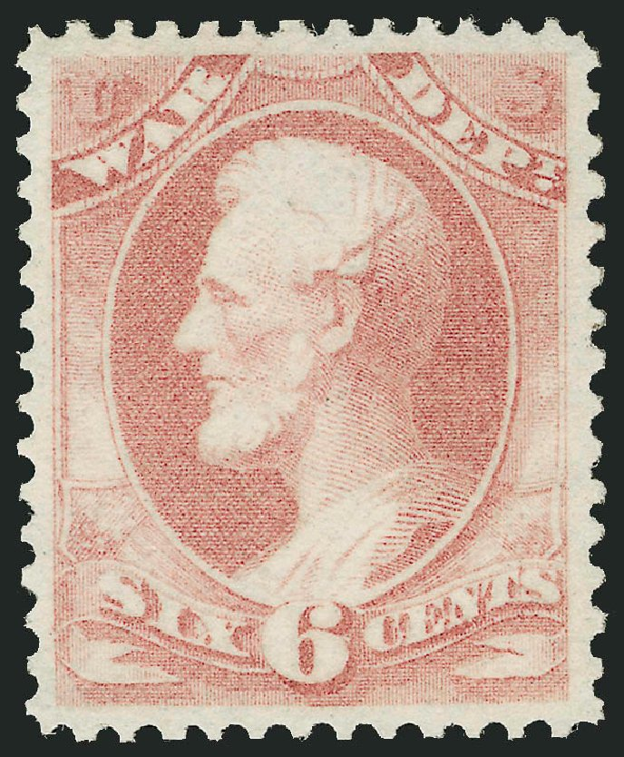 Costs of US Stamps Scott Cat. O86 - 1873 6c War Official. Robert Siegel Auction Galleries, Oct 2010, Sale 997, Lot 6285