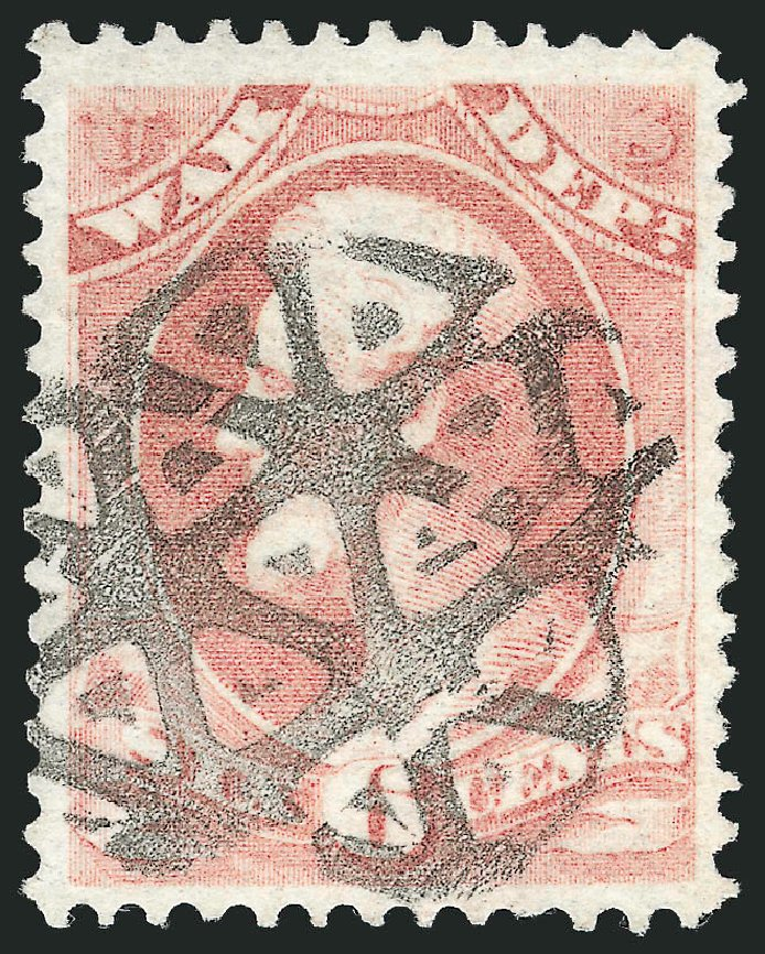 Costs of US Stamp Scott Catalog # O86 - 6c 1873 War Official. Robert Siegel Auction Galleries, Dec 2013, Sale 1062, Lot 846