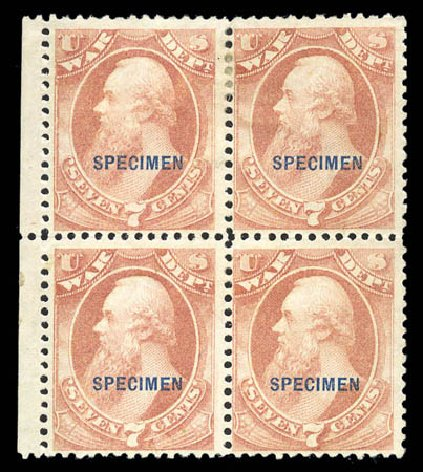 Prices of US Stamp Scott O87: 1873 7c War Official. Matthew Bennett International, Sep 2010, Sale 331, Lot 978