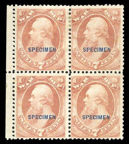 Prices of US Stamp Scott O87: 1873 7c War Official. Matthew Bennett International, Sep 2010, Sale 331, Lot 978