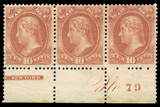 Price of US Stamp Scott O88 - 10c 1873 War Official. Matthew Bennett International, Mar 2011, Sale 336, Lot 1419
