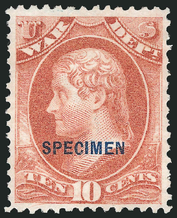 Price of US Stamp Scott Catalog O88: 10c 1873 War Official. Robert Siegel Auction Galleries, Mar 2015, Sale 1095, Lot 650