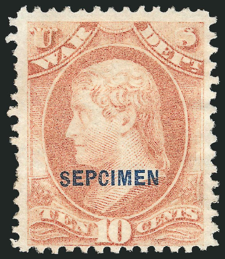 Prices of US Stamps Scott Catalogue # O88 - 1873 10c War Official. Robert Siegel Auction Galleries, Dec 2010, Sale 1003, Lot 5551