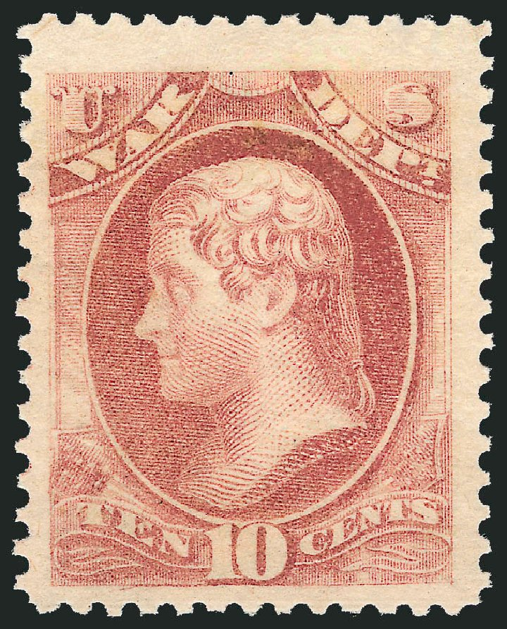 Costs of US Stamps Scott Catalogue # O88 - 10c 1873 War Official. Robert Siegel Auction Galleries, Nov 2013, Sale 1061, Lot 4181