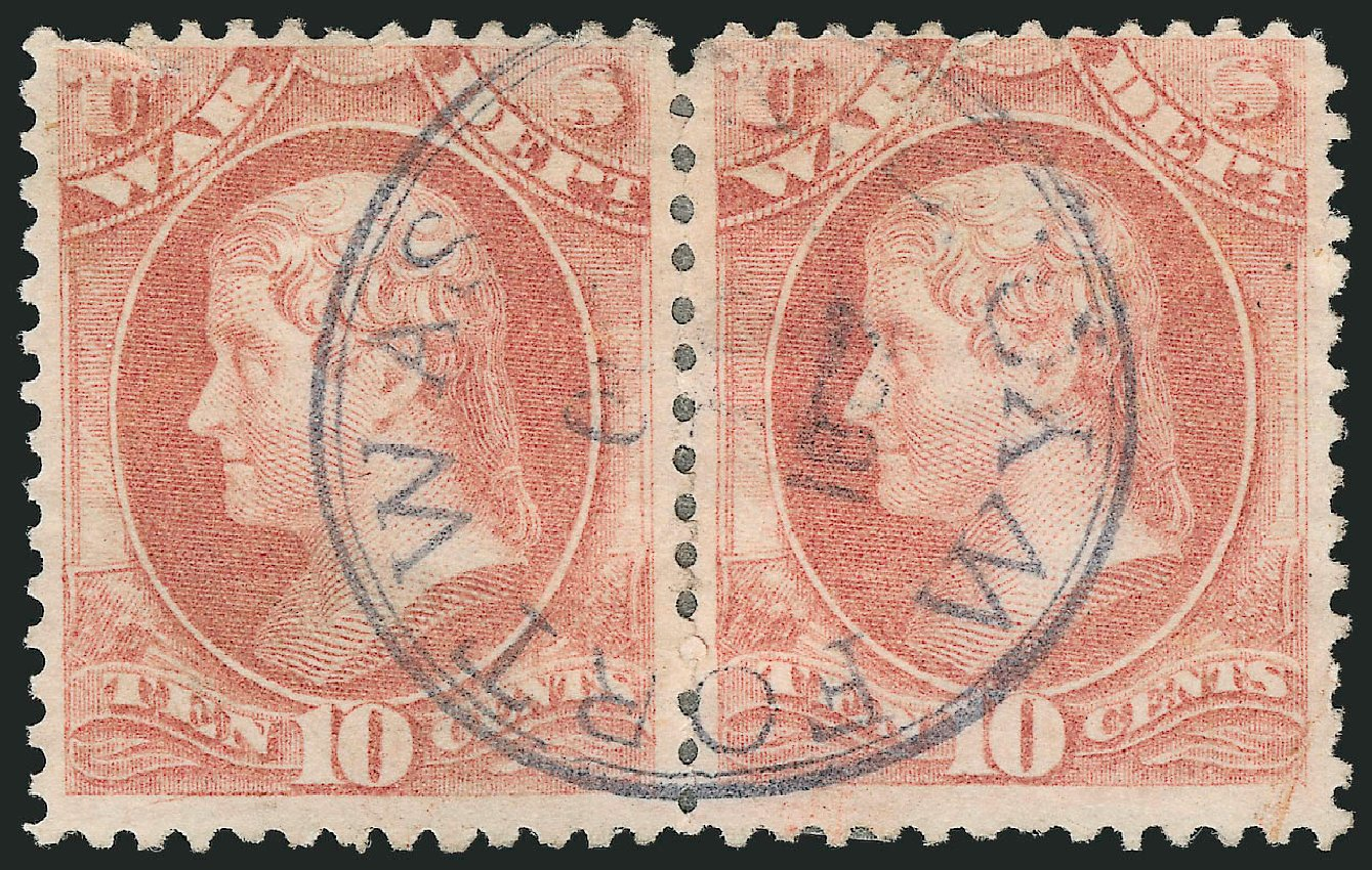 US Stamp Values Scott Catalog #O88 - 10c 1873 War Official. Robert Siegel Auction Galleries, Nov 2014, Sale 1085, Lot 4161
