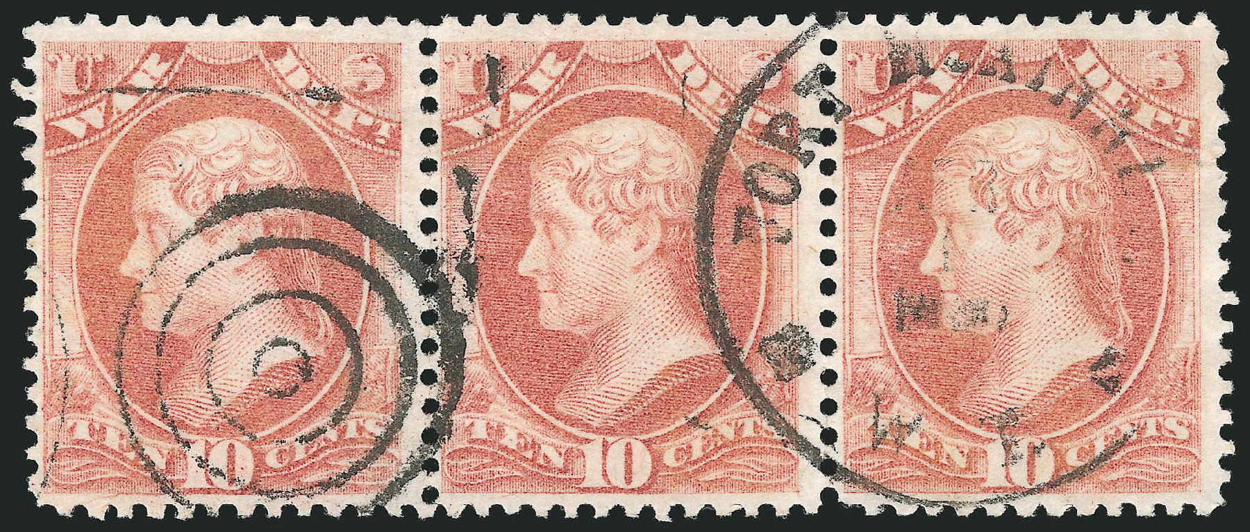 US Stamp Values Scott Catalog # O88 - 1873 10c War Official. Robert Siegel Auction Galleries, Jun 2015, Sale 1100, Lot 103