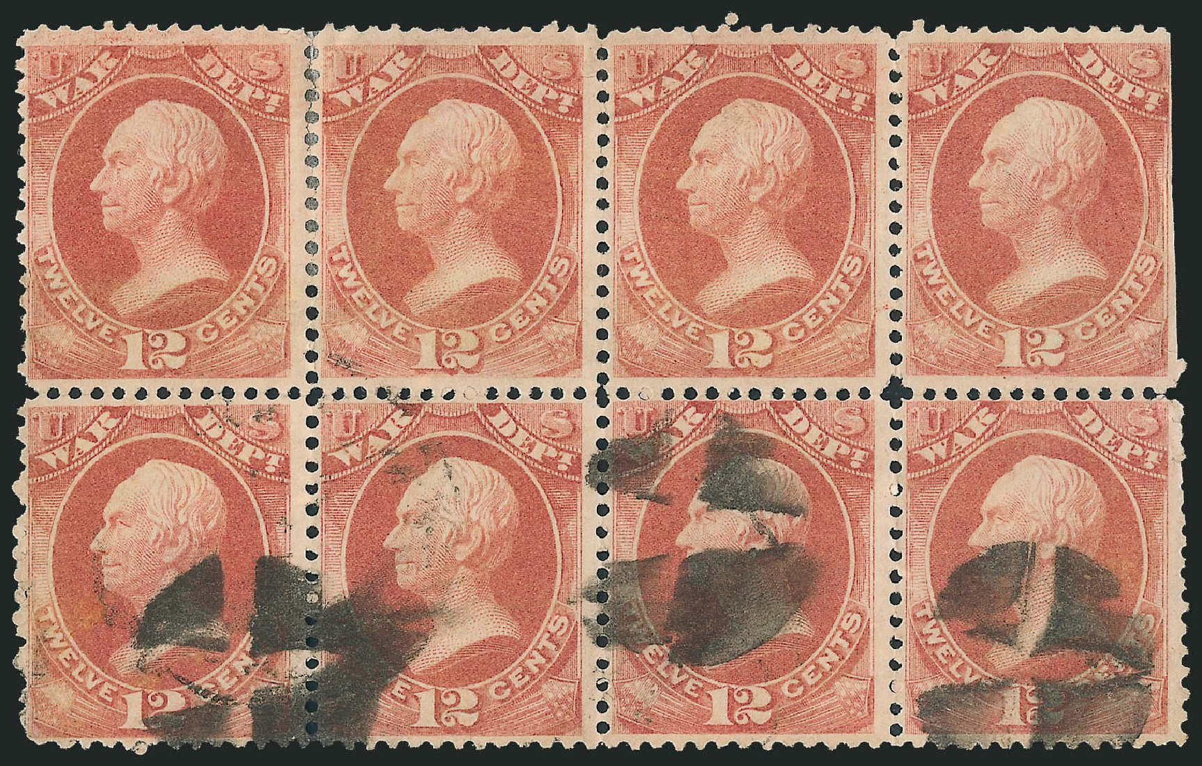 US Stamps Price Scott Catalogue O89: 1873 12c War Official. Robert Siegel Auction Galleries, Dec 2010, Sale 1003, Lot 5469