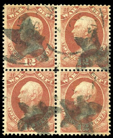 Costs of US Stamp Scott O89 - 1873 12c War Official. Matthew Bennett International, Sep 2011, Sale 338, Lot 2061