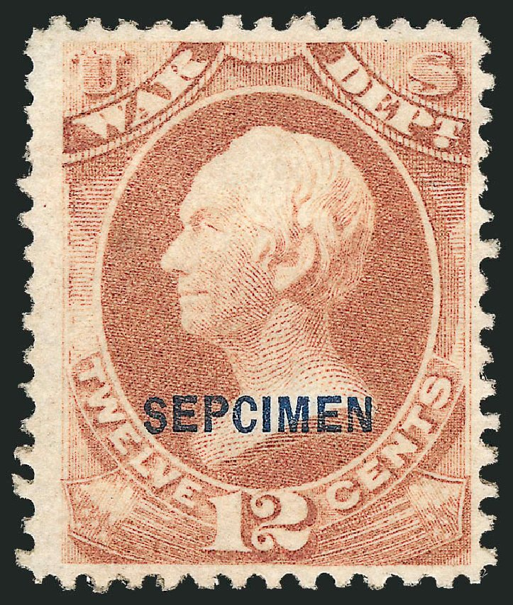 US Stamp Price Scott O89: 1873 12c War Official. Robert Siegel Auction Galleries, Dec 2010, Sale 1003, Lot 5552