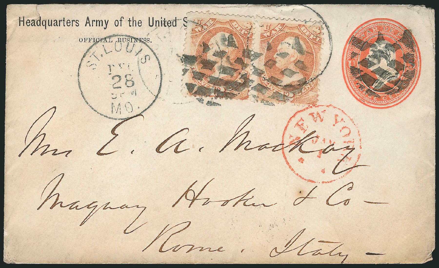 US Stamp Values Scott Cat. O89 - 1873 12c War Official. Robert Siegel Auction Galleries, Dec 2010, Sale 1003, Lot 5513