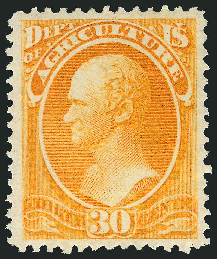 Value of US Stamp Scott Catalog O9 - 30c 1873 Agriculture Official. Robert Siegel Auction Galleries, Nov 2013, Sale 1061, Lot 4149