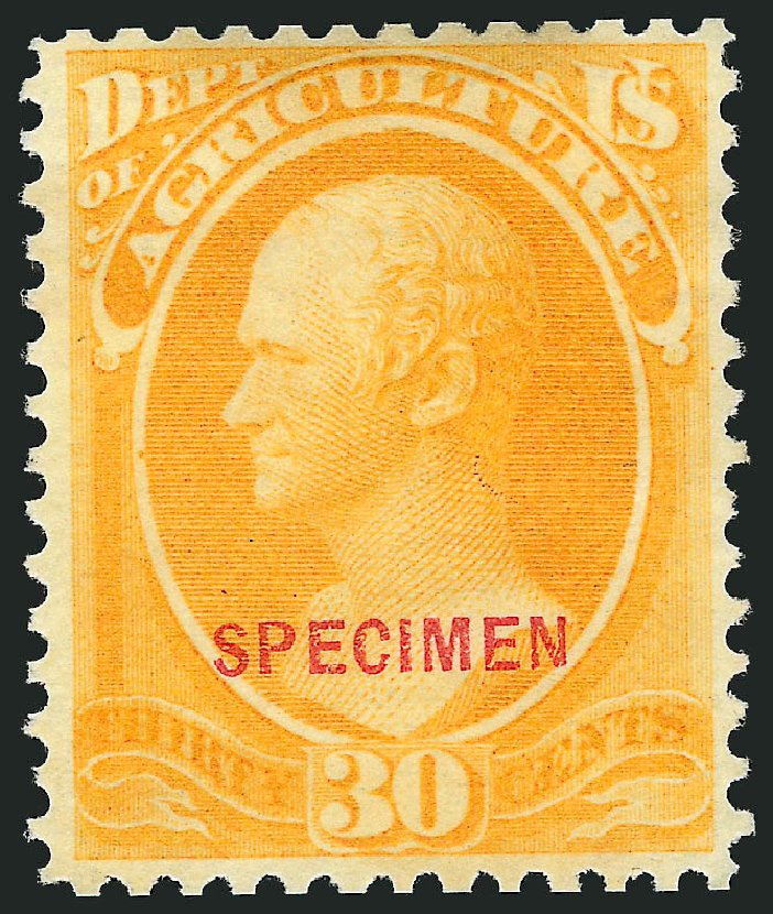 US Stamp Price Scott # O9 - 30c 1873 Agriculture Official. Robert Siegel Auction Galleries, Mar 2015, Sale 1095, Lot 509