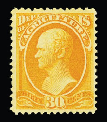 Cost of US Stamp Scott Cat. #O9 - 30c 1873 Agriculture Official. Cherrystone Auctions, Jul 2015, Sale 201507, Lot 2211