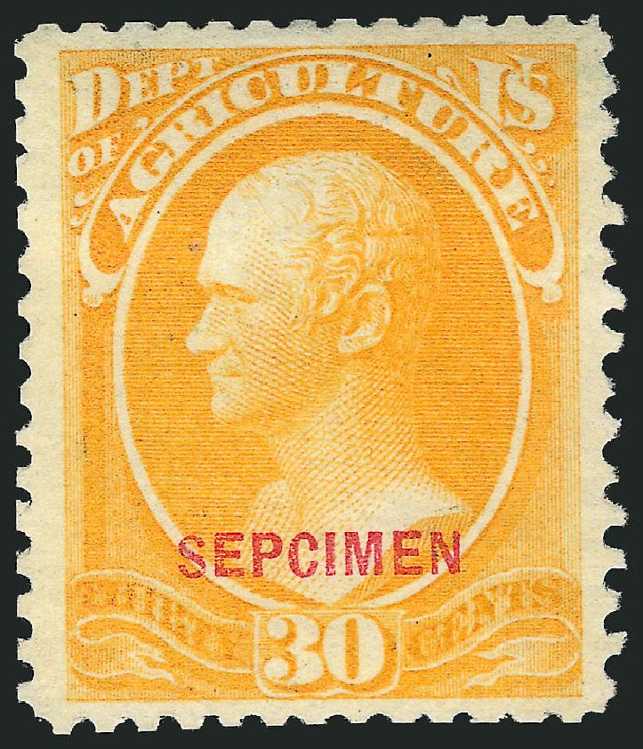 US Stamp Value Scott Cat. #O9 - 30c 1873 Agriculture Official. Robert Siegel Auction Galleries, Mar 2015, Sale 1095, Lot 524