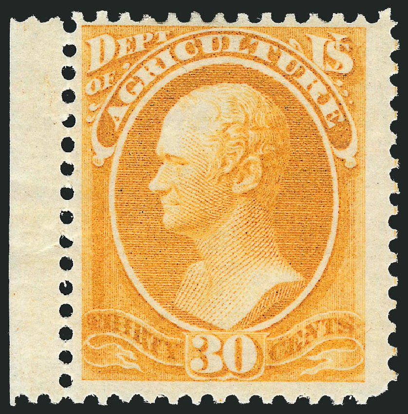 Cost of US Stamp Scott # O9 - 30c 1873 Agriculture Official. Robert Siegel Auction Galleries, Oct 2012, Sale 1033, Lot 4302
