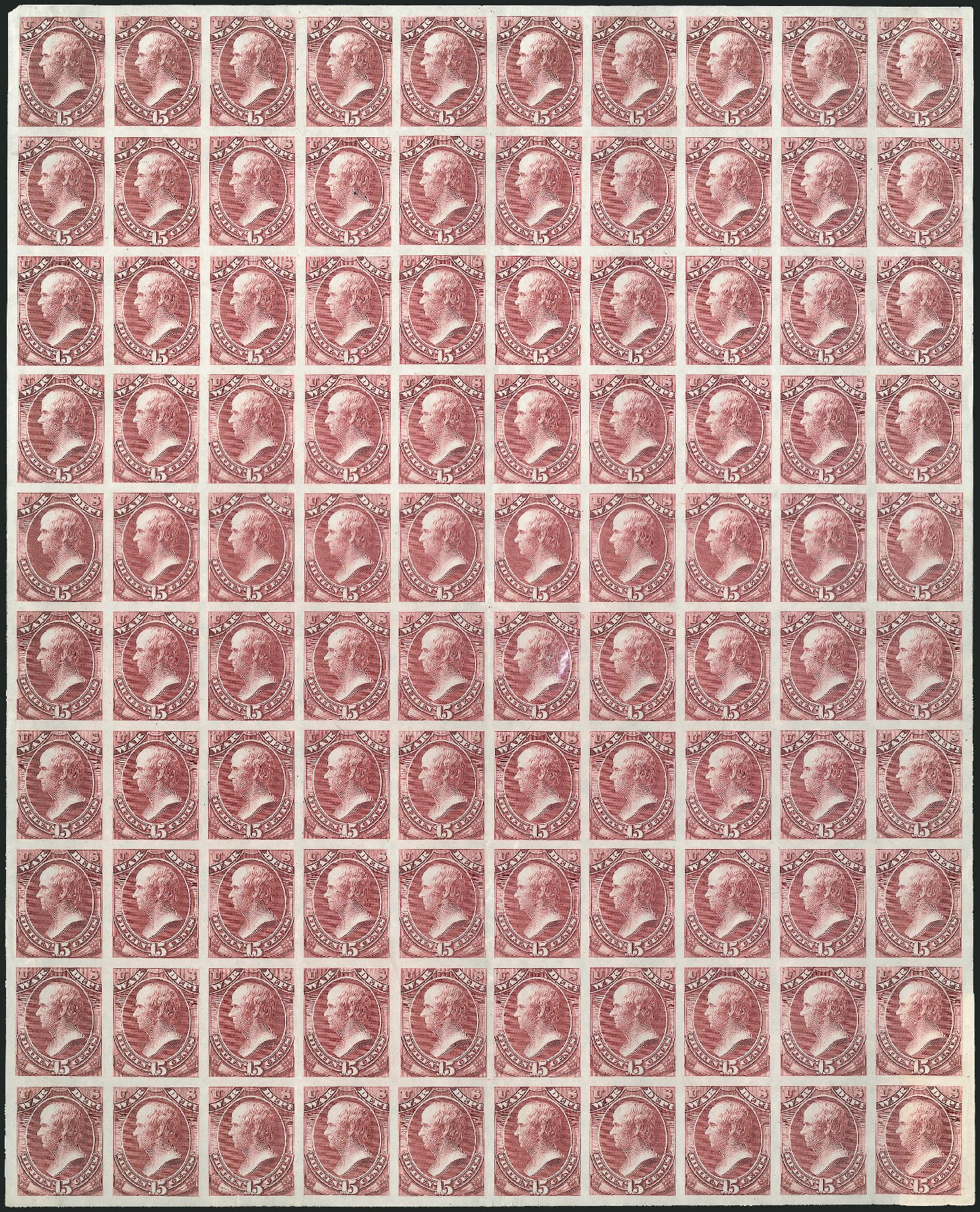 US Stamps Value Scott Catalogue #O90 - 15c 1873 War Official. Robert Siegel Auction Galleries, Mar 2015, Sale 1094, Lot 151