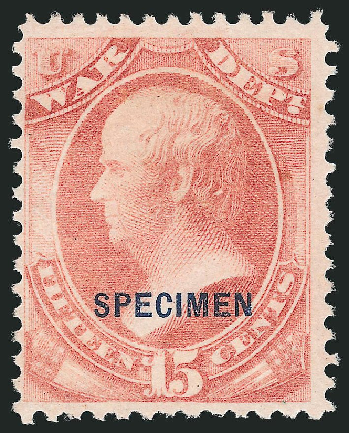 Price of US Stamp Scott Catalog #O90 - 15c 1873 War Official. Robert Siegel Auction Galleries, Nov 2013, Sale 1061, Lot 4212