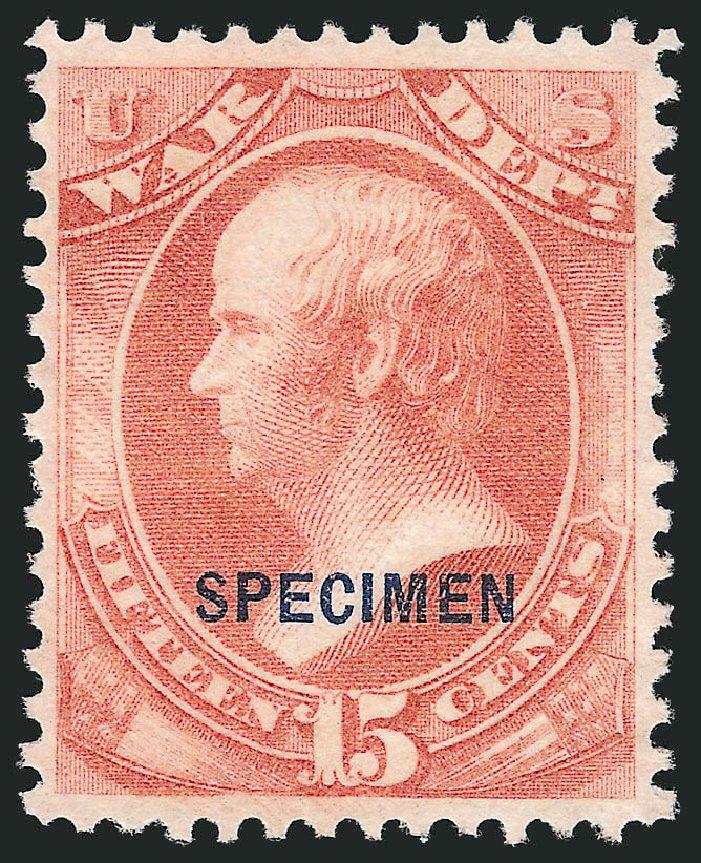 Value of US Stamp Scott Catalogue # O90 - 1873 15c War Official. Robert Siegel Auction Galleries, Mar 2015, Sale 1095, Lot 652
