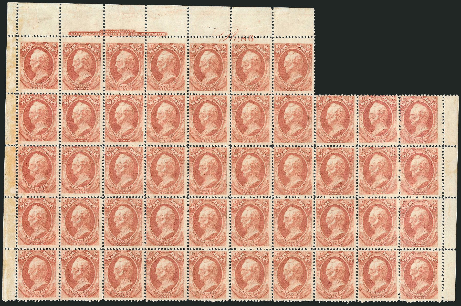 Value of US Stamps Scott Cat. O91 - 24c 1873 War Official. Robert Siegel Auction Galleries, Oct 2011, Sale 1014, Lot 2368