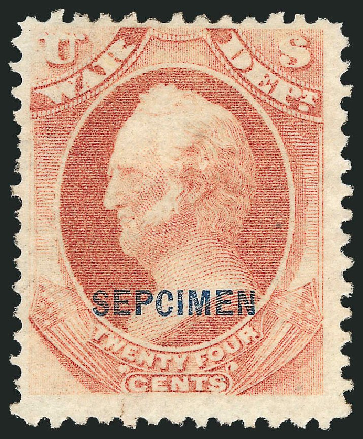 Value of US Stamp Scott Catalogue O91 - 24c 1873 War Official. Robert Siegel Auction Galleries, Dec 2010, Sale 1003, Lot 5554