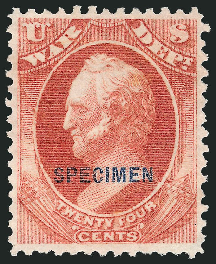 Value of US Stamps Scott Catalogue O91 - 24c 1873 War Official. Robert Siegel Auction Galleries, Mar 2015, Sale 1095, Lot 653