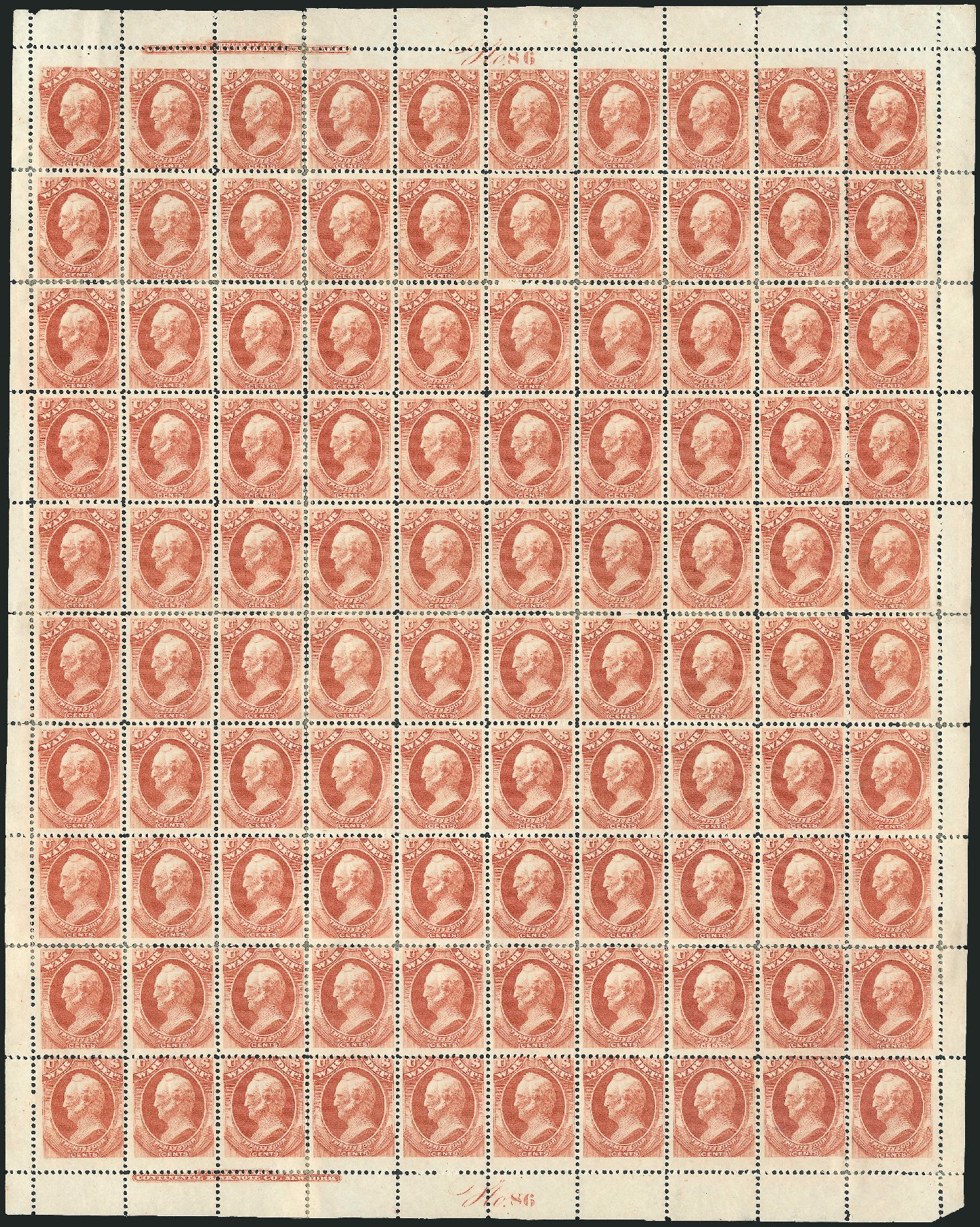 Price of US Stamps Scott Catalogue # O91 - 1873 24c War Official. Robert Siegel Auction Galleries, Dec 2010, Sale 1003, Lot 5456