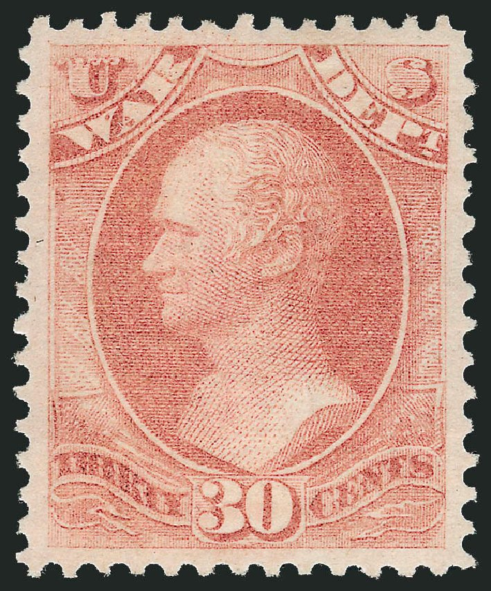 US Stamp Price Scott O92: 1873 30c War Official. Robert Siegel Auction Galleries, Dec 2009, Sale 978, Lot 1138