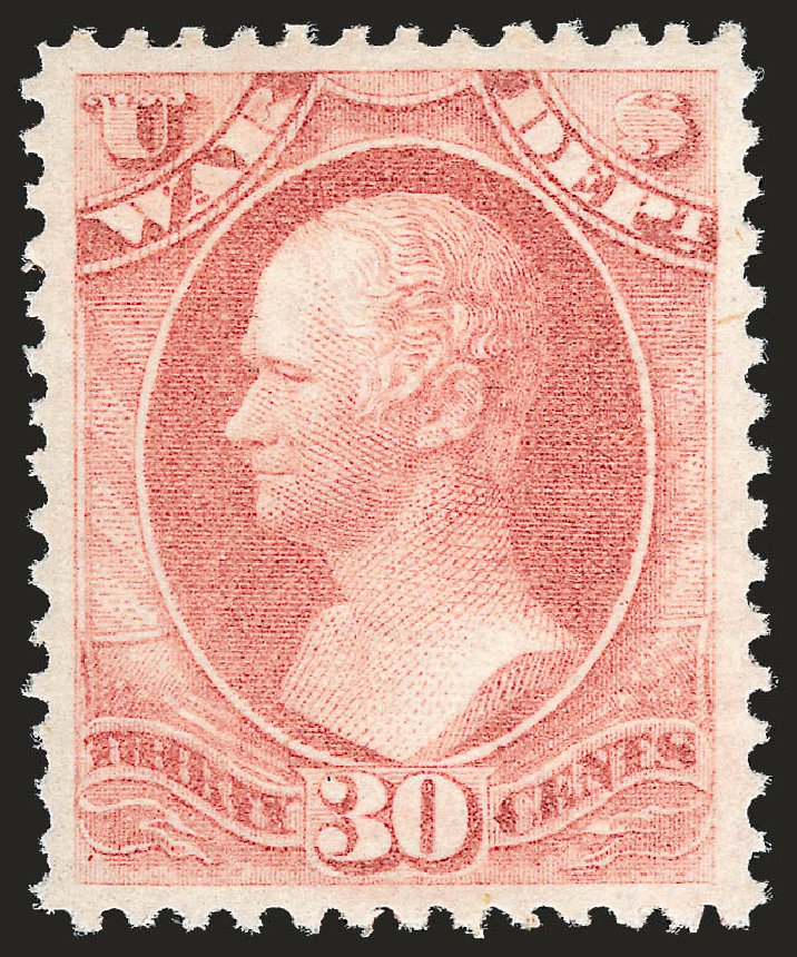 US Stamps Prices Scott #O92 - 30c 1873 War Official. Robert Siegel Auction Galleries, Dec 2009, Sale 982, Lot 6141