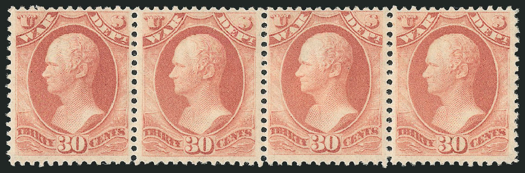 Prices of US Stamp Scott Catalogue # O92: 30c 1873 War Official. Robert Siegel Auction Galleries, Nov 2013, Sale 1061, Lot 4184