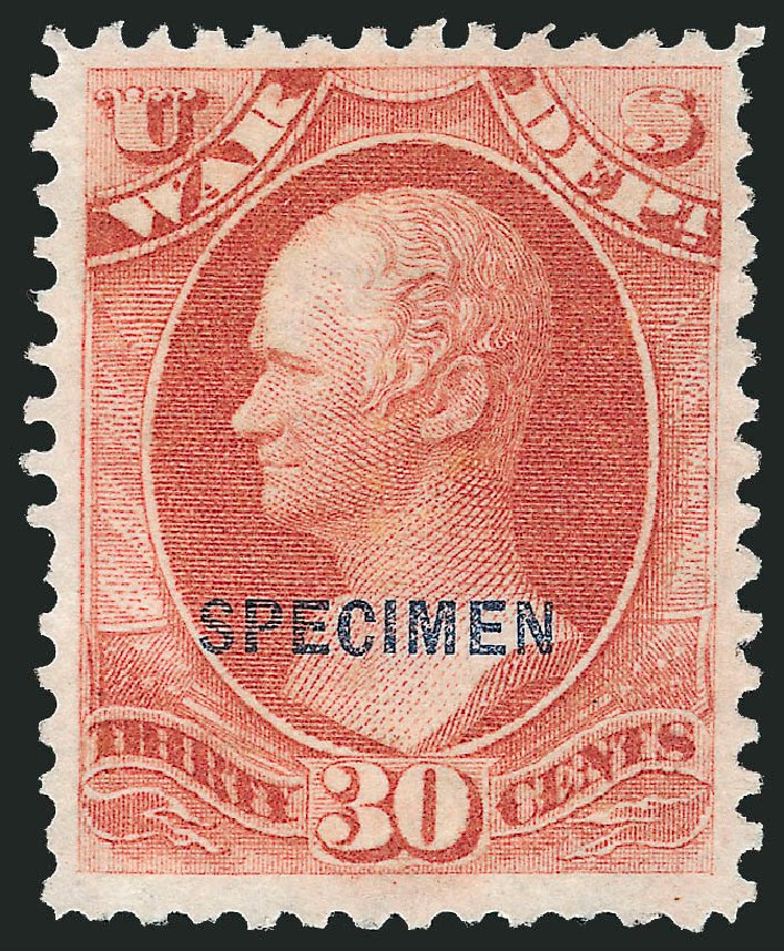 Price of US Stamps Scott Catalogue O92 - 1873 30c War Official. Robert Siegel Auction Galleries, Mar 2015, Sale 1095, Lot 654