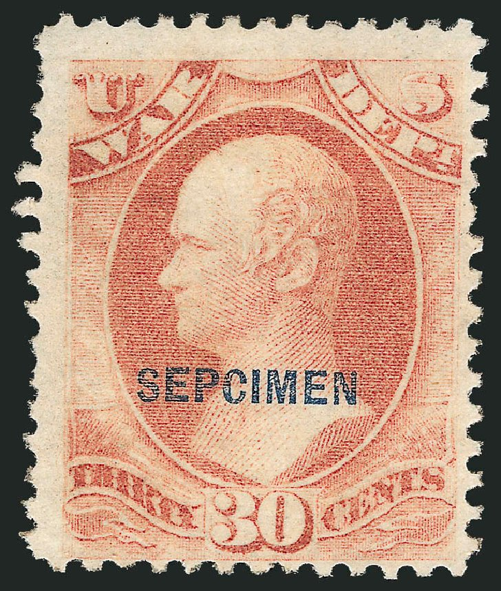 Value of US Stamps Scott Catalogue #O92 - 30c 1873 War Official. Robert Siegel Auction Galleries, Dec 2010, Sale 1003, Lot 5555