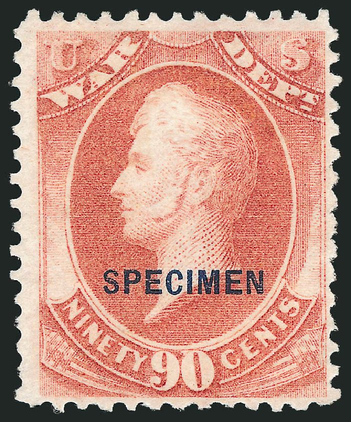 US Stamps Price Scott Cat. #O93: 90c 1873 War Official. Robert Siegel Auction Galleries, Mar 2015, Sale 1095, Lot 655