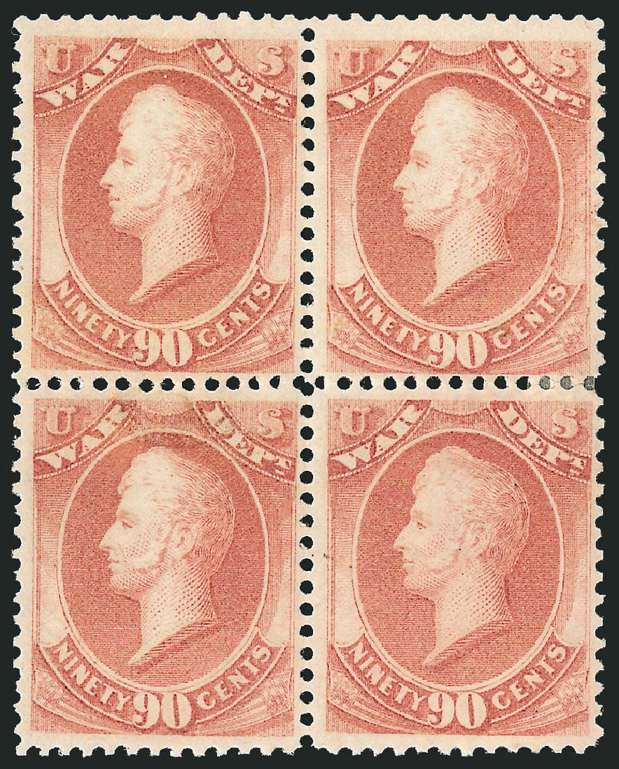 Prices of US Stamps Scott Catalogue # O93 - 1873 90c War Official. Robert Siegel Auction Galleries, Nov 2014, Sale 1085, Lot 4173