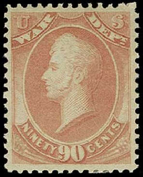 US Stamp Price Scott Cat. #O93: 1873 90c War Official. H.R. Harmer, Jun 2015, Sale 3007, Lot 3496