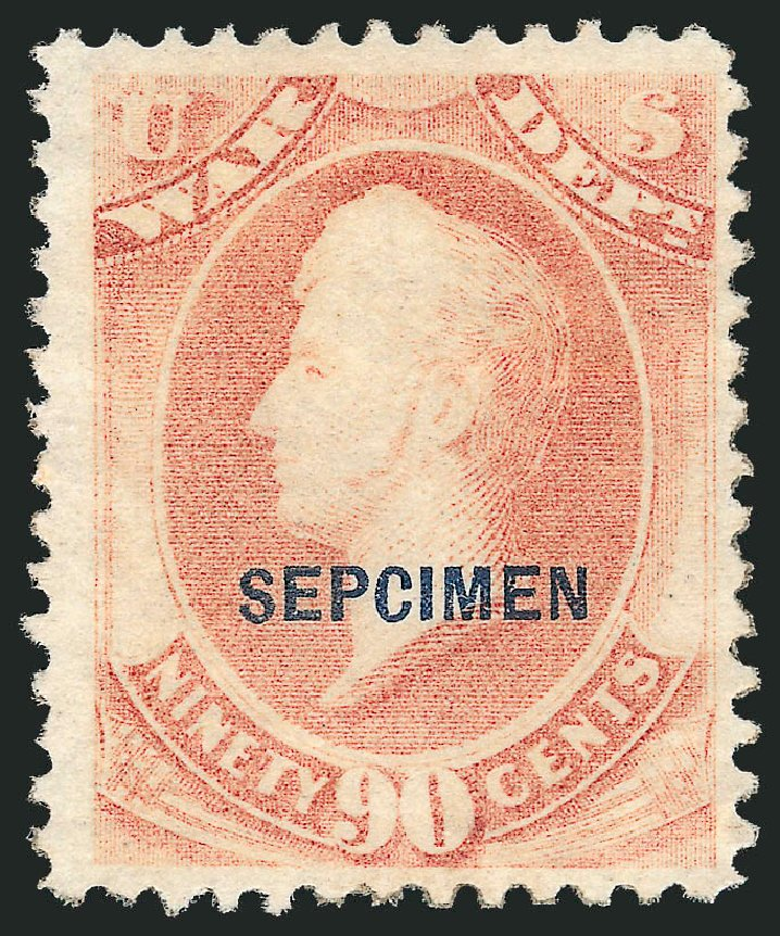 Prices of US Stamps Scott Cat. O93 - 90c 1873 War Official. Robert Siegel Auction Galleries, Dec 2010, Sale 1003, Lot 5556