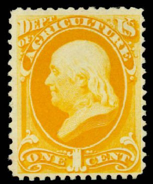Value of US Stamps Scott # O94: 1879 1c Agriculture Official. Daniel Kelleher Auctions, Sep 2014, Sale 655, Lot 887