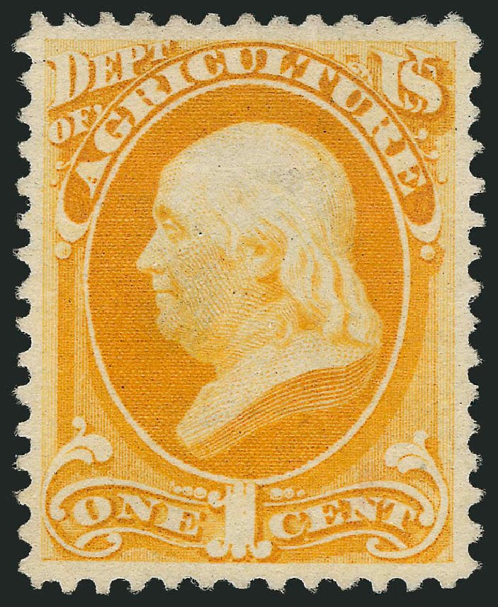 US Stamps Value Scott Cat. # O94: 1c 1879 Agriculture Official. Robert Siegel Auction Galleries, Sep 2014, Sale 1078, Lot 667