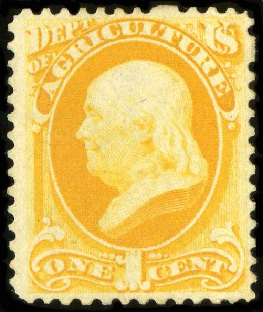 Values of US Stamps Scott Catalogue # O94: 1879 1c Agriculture Official. Spink Shreves Galleries, Jul 2015, Sale 151, Lot 397