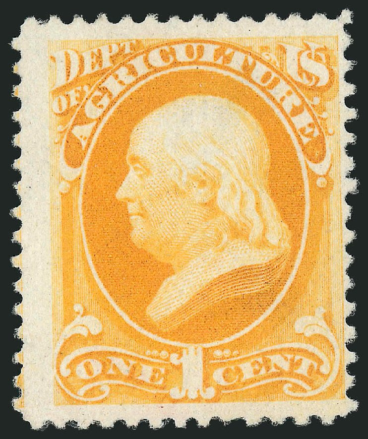 Value of US Stamp Scott Catalogue #O94 - 1c 1879 Agriculture Official. Robert Siegel Auction Galleries, Jun 2015, Sale 1100, Lot 109