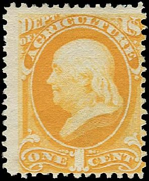 US Stamp Values Scott O94: 1879 1c Agriculture Official. Regency-Superior, Jan 2015, Sale 109, Lot 1560
