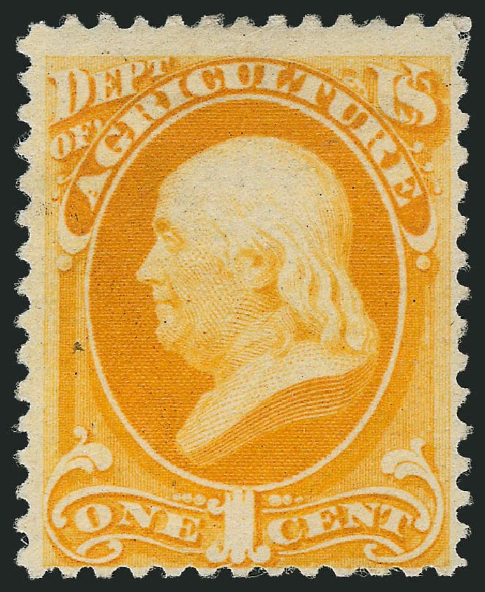 Price of US Stamps Scott Catalog # O94: 1879 1c Agriculture Official. Robert Siegel Auction Galleries, Apr 2015, Sale 1096, Lot 900
