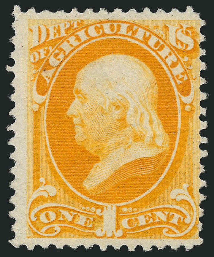 Cost of US Stamp Scott O94 - 1879 1c Agriculture Official. Robert Siegel Auction Galleries, Oct 2014, Sale 1082, Lot 511