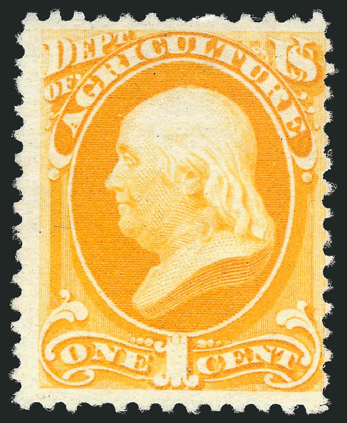 Price of US Stamp Scott Catalogue # O94: 1c 1879 Agriculture Official. Robert Siegel Auction Galleries, Mar 2014, Sale 1067, Lot 1724