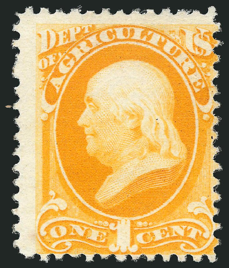 US Stamps Value Scott Catalog # O94: 1879 1c Agriculture Official. Robert Siegel Auction Galleries, Mar 2014, Sale 1067, Lot 1725