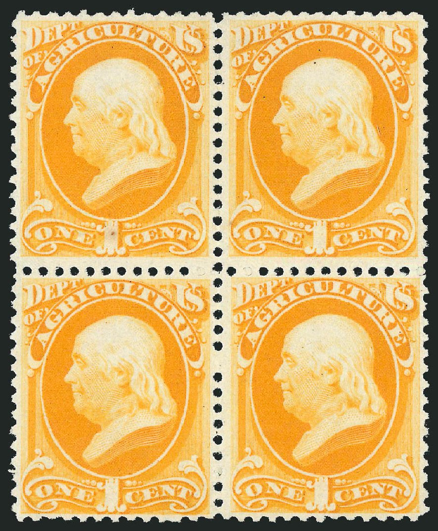 Values of US Stamp Scott O94: 1c 1879 Agriculture Official. Robert Siegel Auction Galleries, Nov 2014, Sale 1085, Lot 4182